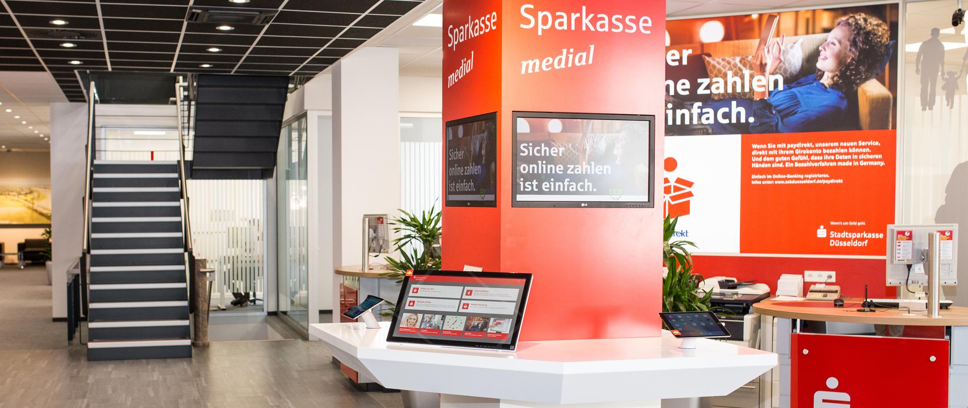 Digital Signage für Sparkssen